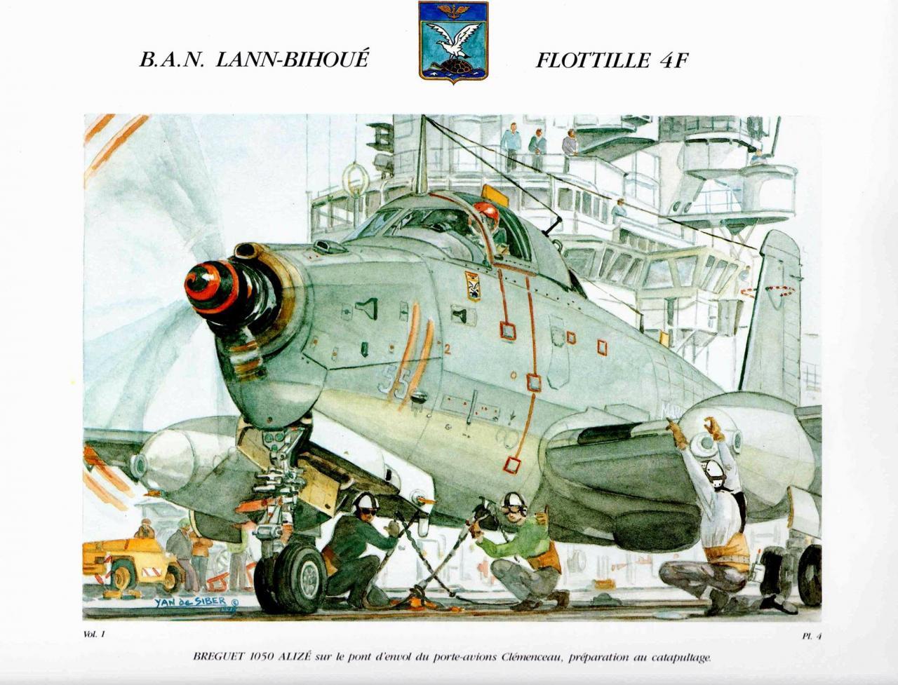 vue d'artiste (Yann de Siber), 50 ans de la BAN Lann-Bihoué en 1996