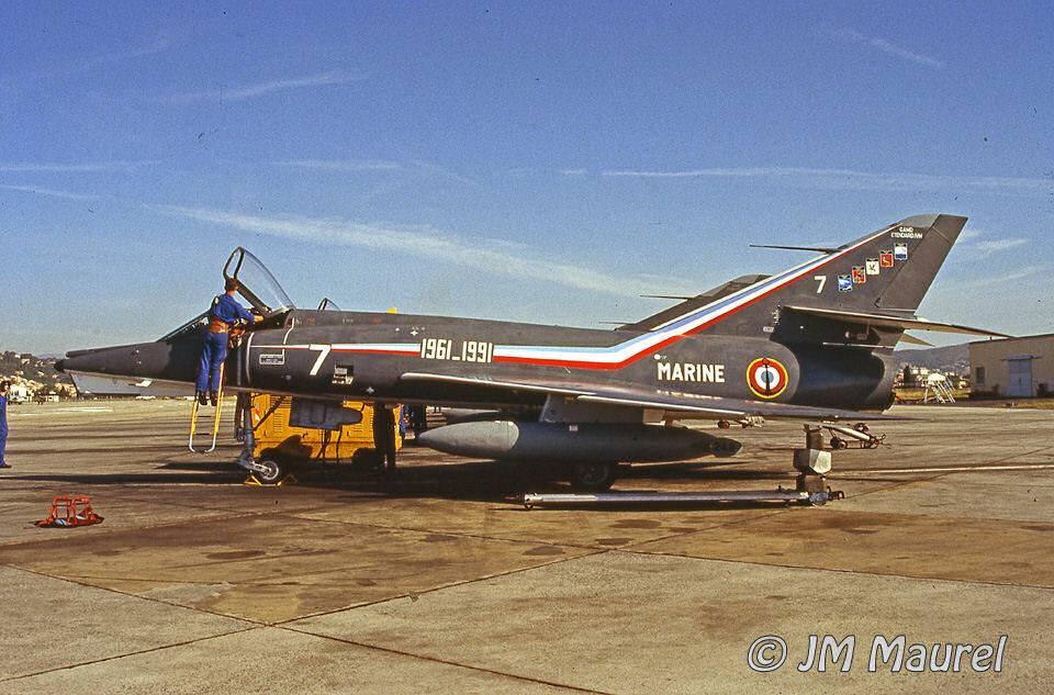 1er Juillet 1991 retrait de service de l'Etendard IVM à Hyères ...