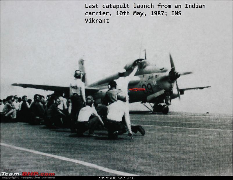 1987, INS Vikrant, Last Catapult Alizé 09 ...