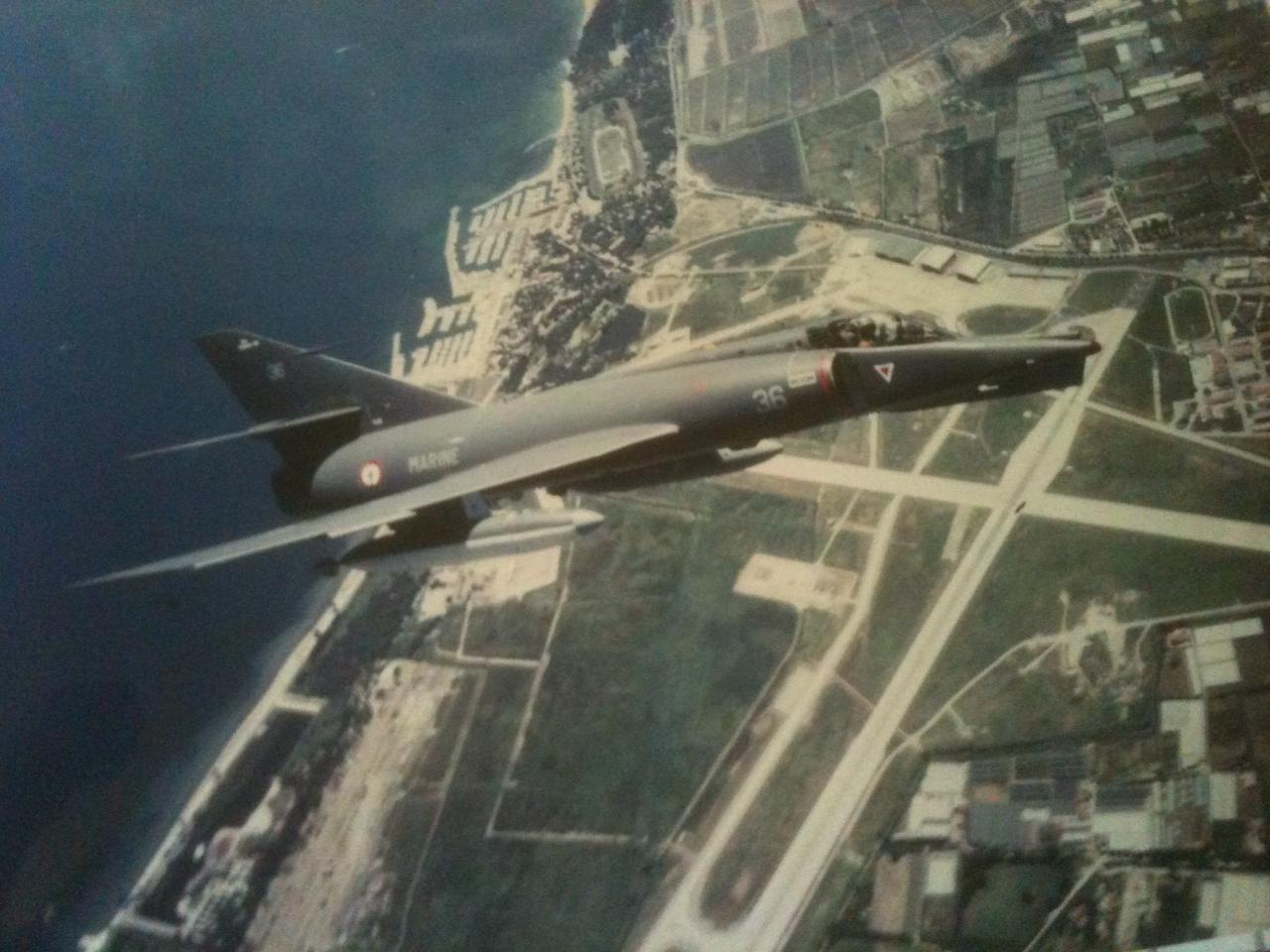 1989, étendard IVM n°36, escadrille 59S, ban hyères ...