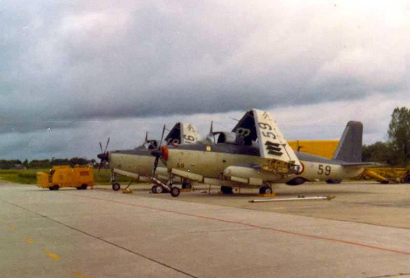 année 71/72, alizé 16 et 59, escadrille 2S, ban Lann-Bihoué ...