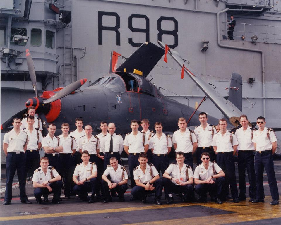 """1996, p.a Clemenceau, flottille 4F, """"état-major"""" ..."""