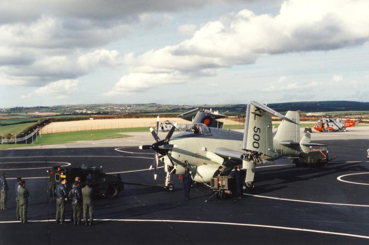 visite au 849 squadron, gannet XL500...