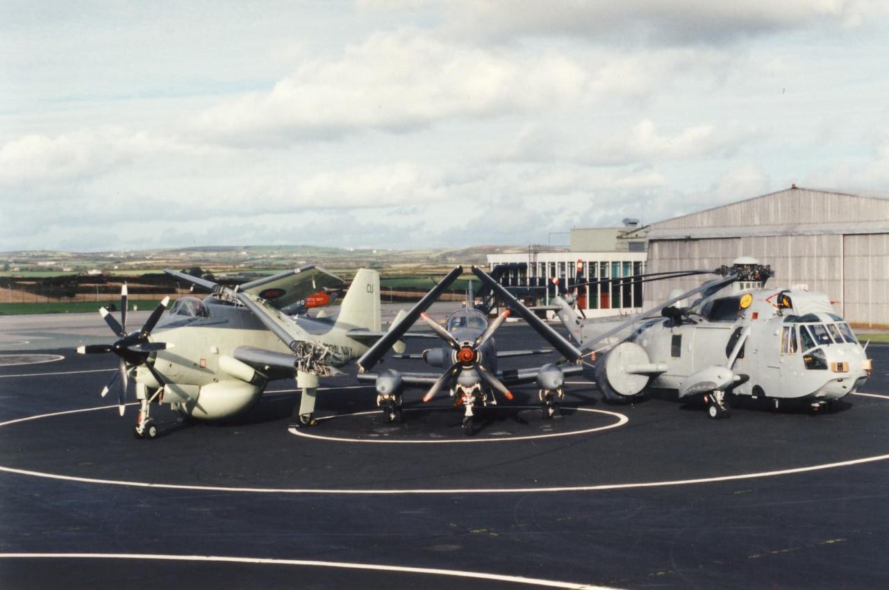 les années 90, flottille 4F, visite au 849 Naval Air Squadron, RNAS Culdrose ...