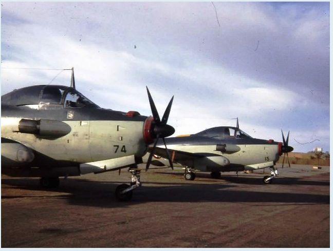 1965, Algérie, terrain d'In Amguel, Sahara, flottille 9F, alizé 74et15