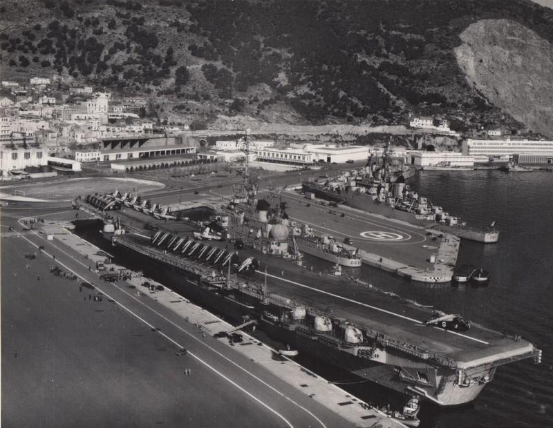 1965, p.a Clemenceau, escale à Mers-el-Kébir, alizé flottille 4F ...