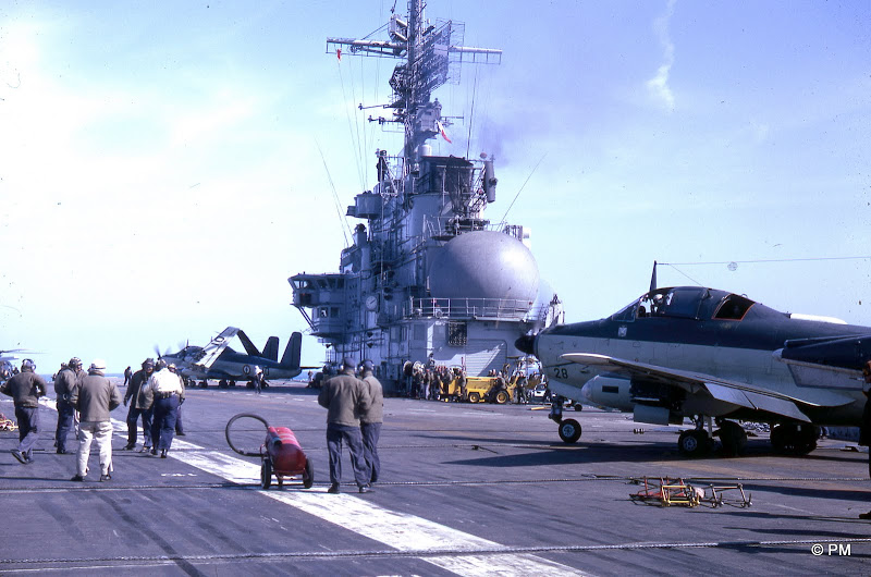 1967, p.a Foch, flottille 4F, alizé 28 et 10 ...