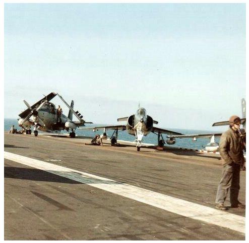 1968, p.a Clemenceau, flottille 9F, alizé 59 ...