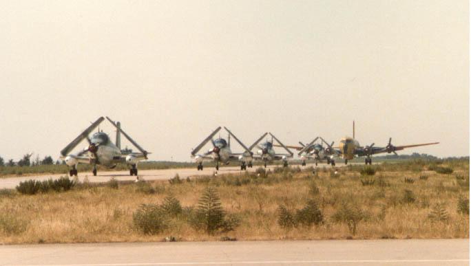 1987, nîmes-garons, retour d'un quatuor suivi par dc6 sécurité civile