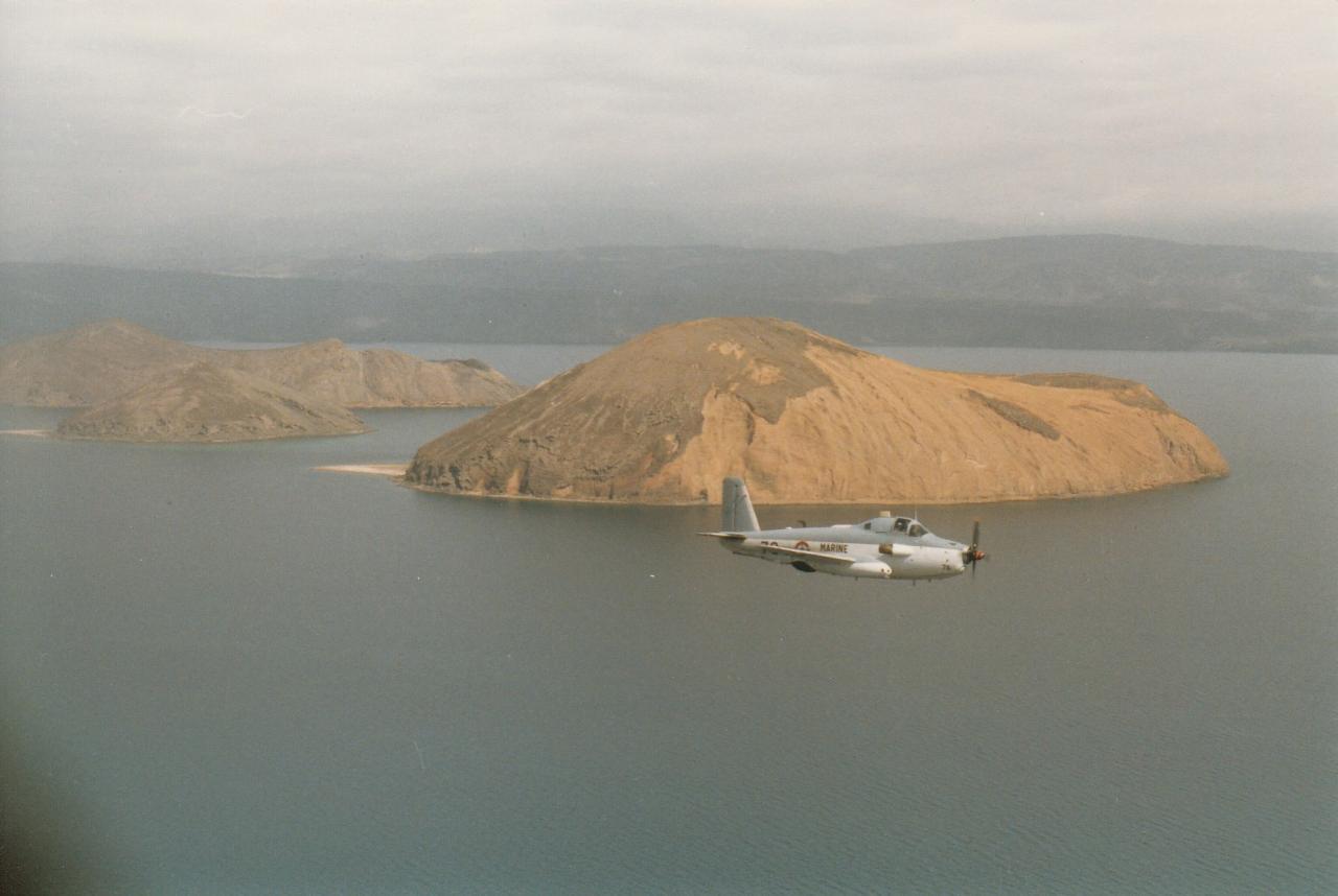 1987, flottille 4F, alizé 76, L'île du Diable ...