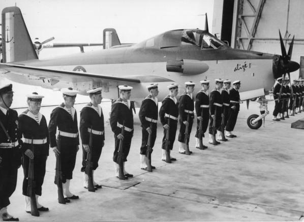 21 Juin 1959, cérémonie de reception de l'Alizé ...