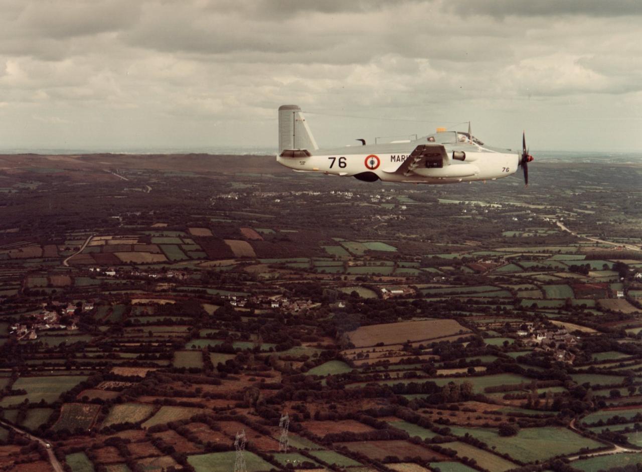 flottille 4F, l'alizé 76 en vol, milieu des années 80 ...