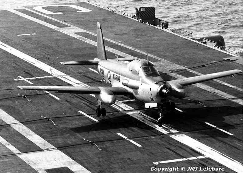 1980, p.a Clemenceau, flottille 6F, alizé 68 rebond dans les brins ...