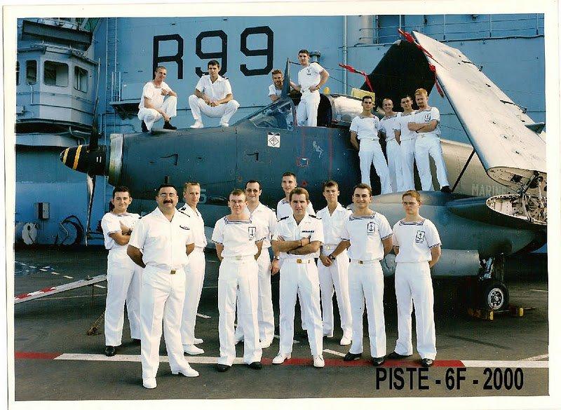 """an 2000, flottille 6F, p.a Foch, équipe """"piste"""" ..."""