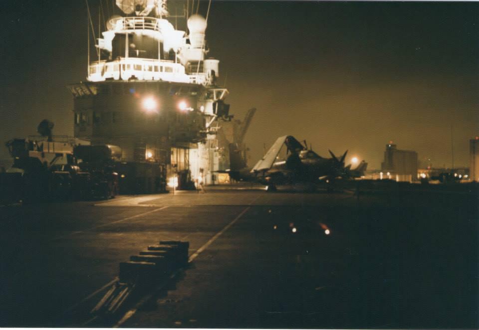 1994, p.a Foch, flottille 4F, escale à Valence ...