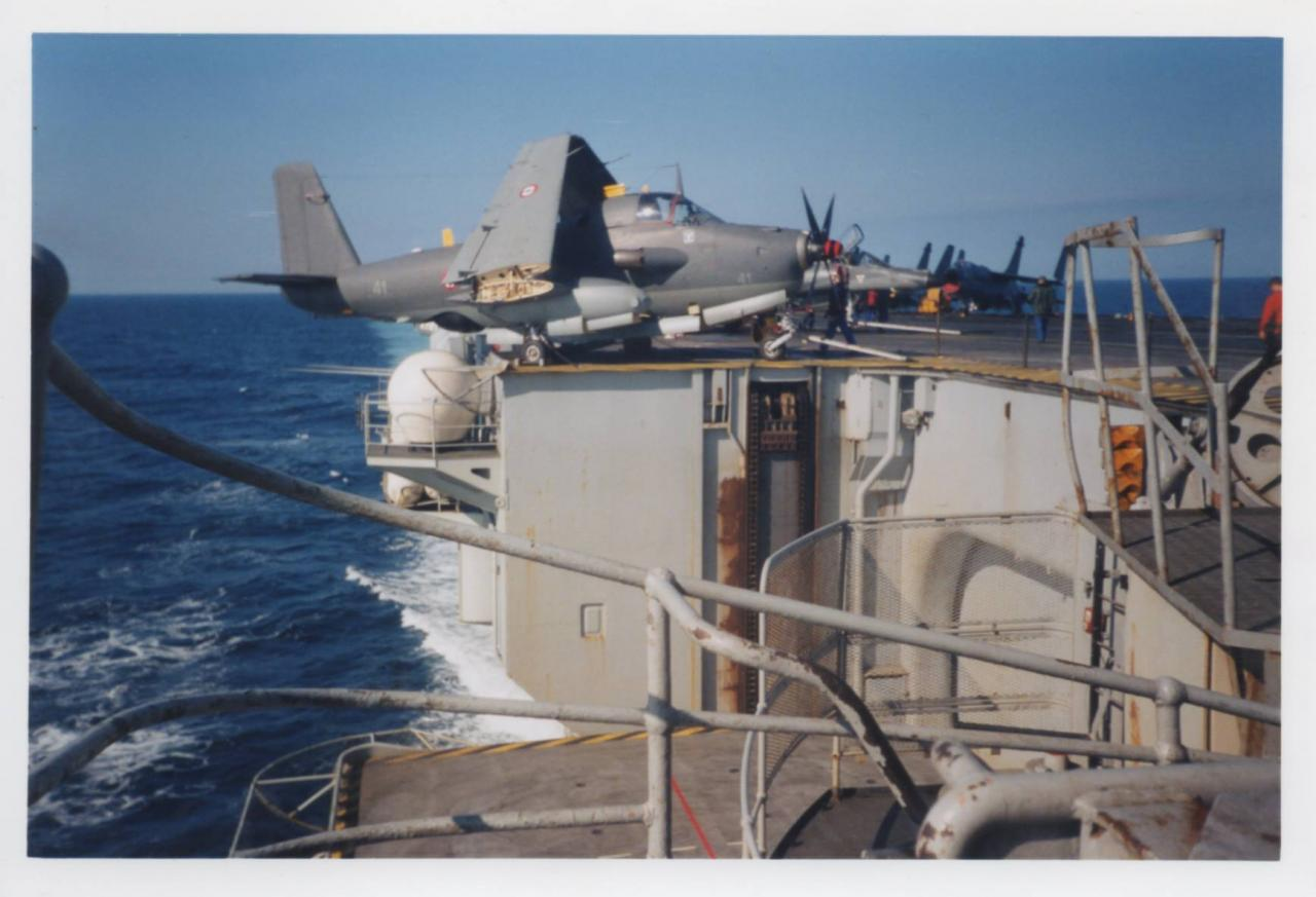 1997, p.a Clemenceau, alizé 41 flottille 4F ...