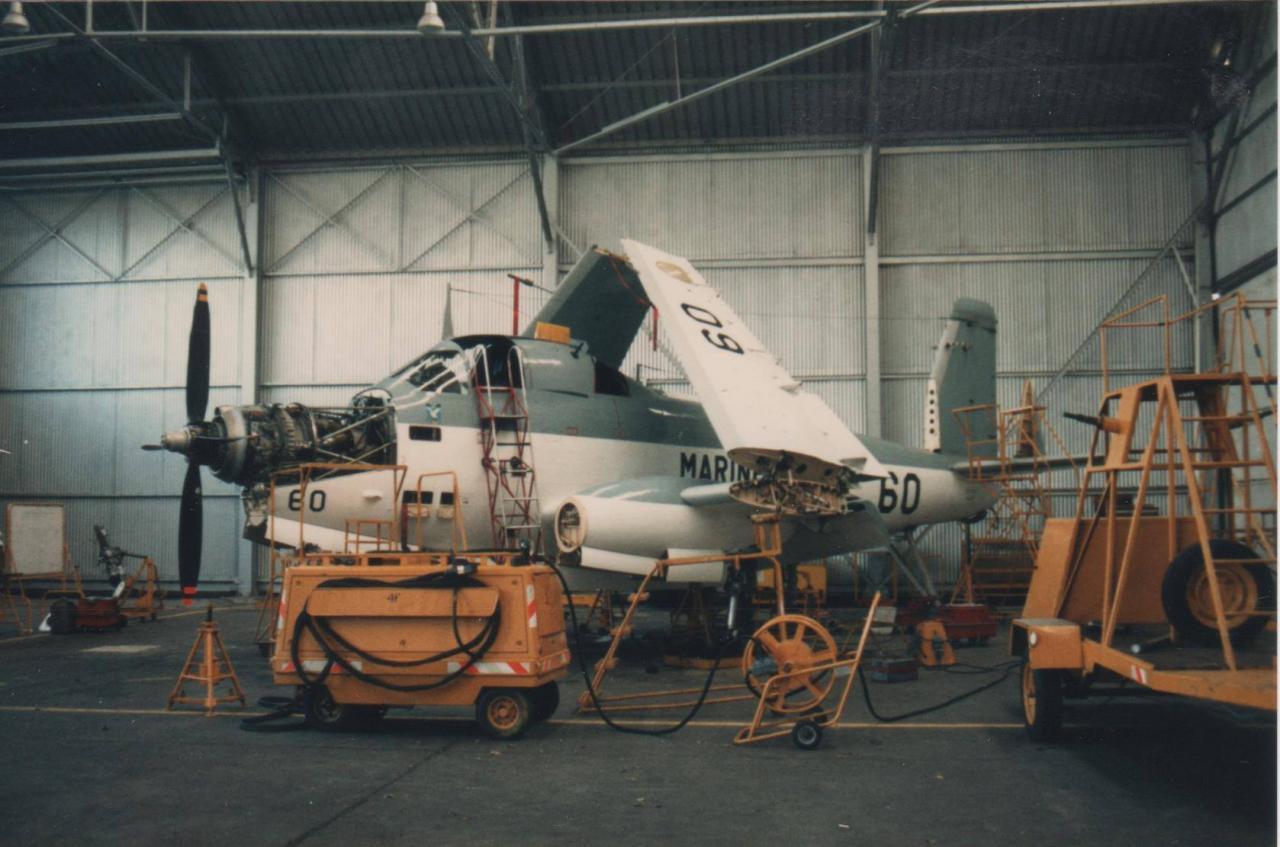 11/1986, flottille 4F, alizé 60 en visite type 2e niveau ...