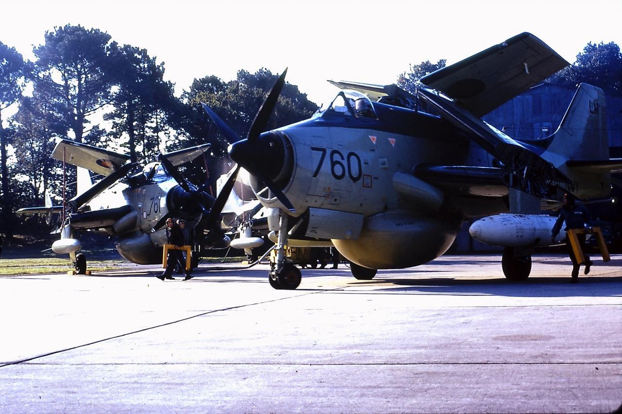 1974, Lann-Bihoué, Gannet 760 et 761, mise en route ...