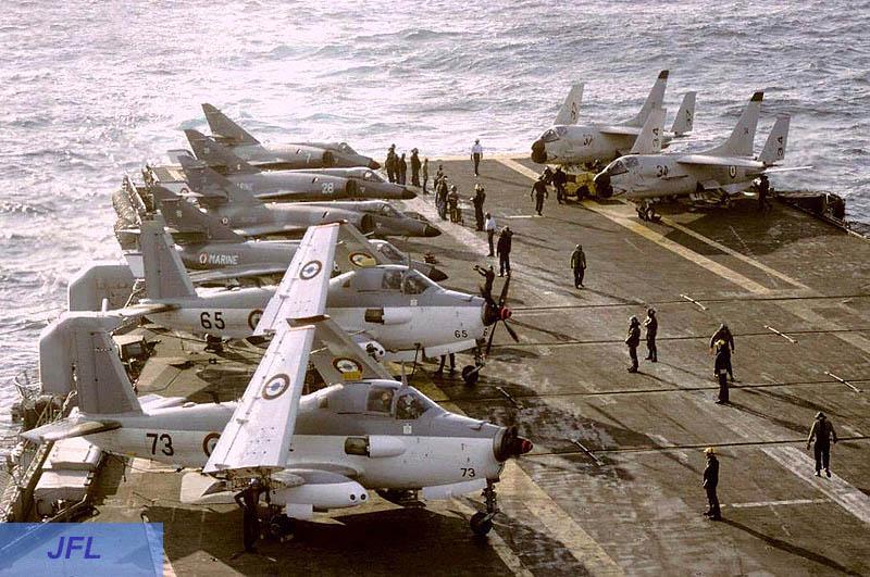 1986, p.a Foch, flottille 6F, alizé 73 et 65 ...