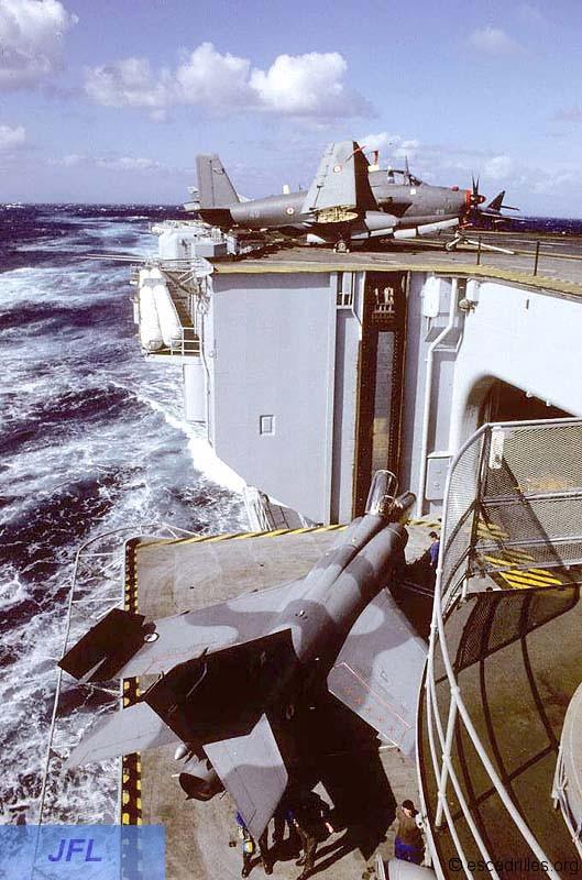 """1994, p.a Foch, flottille 6F, alizé 49 """"spot optique"""" ..."""