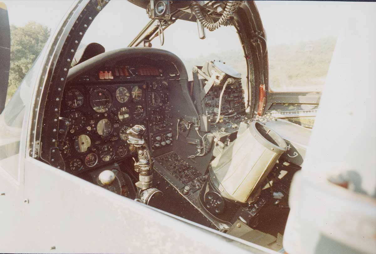 1971/72, escadrille 2S, cockpit alizé première génération ...