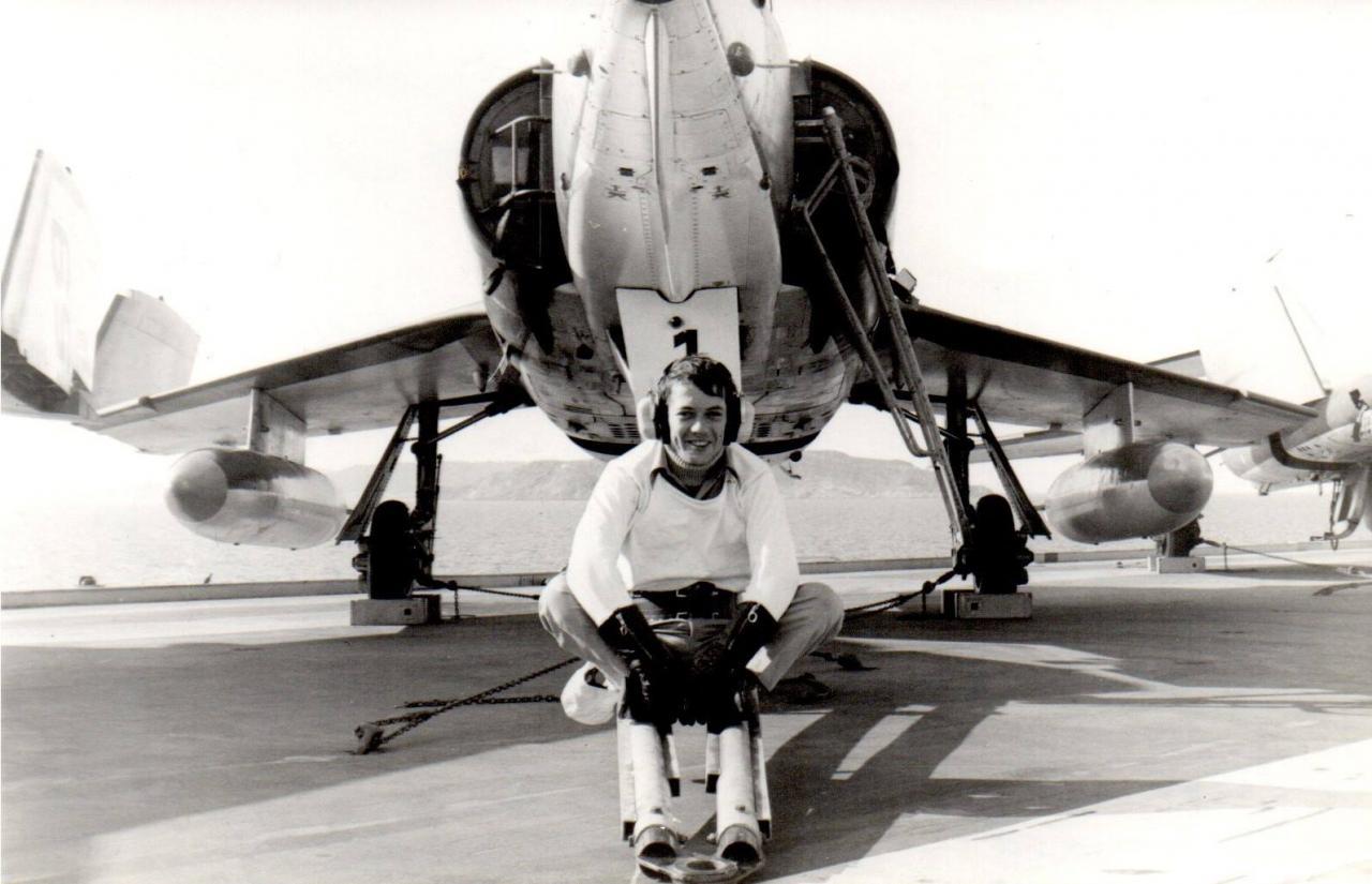 Escadrille 59S, Novembre 1981, Etendard IVM n°16 et l'auteur chef de piste