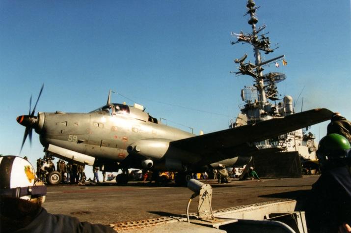 "mission ""Trident"" 1999, catapultage alizé 59, 6F, p.a Foch ..."