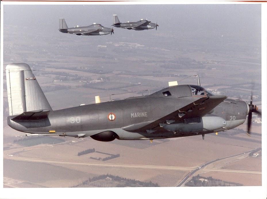 les années 90, flottille 6F, vol en formation alizé 30,12 et 55 ...