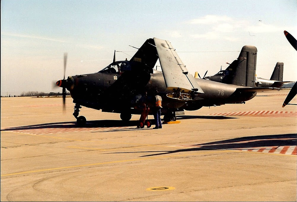 1995, Nîmes-Garons, flottille 6F, alizé 76 mise en route