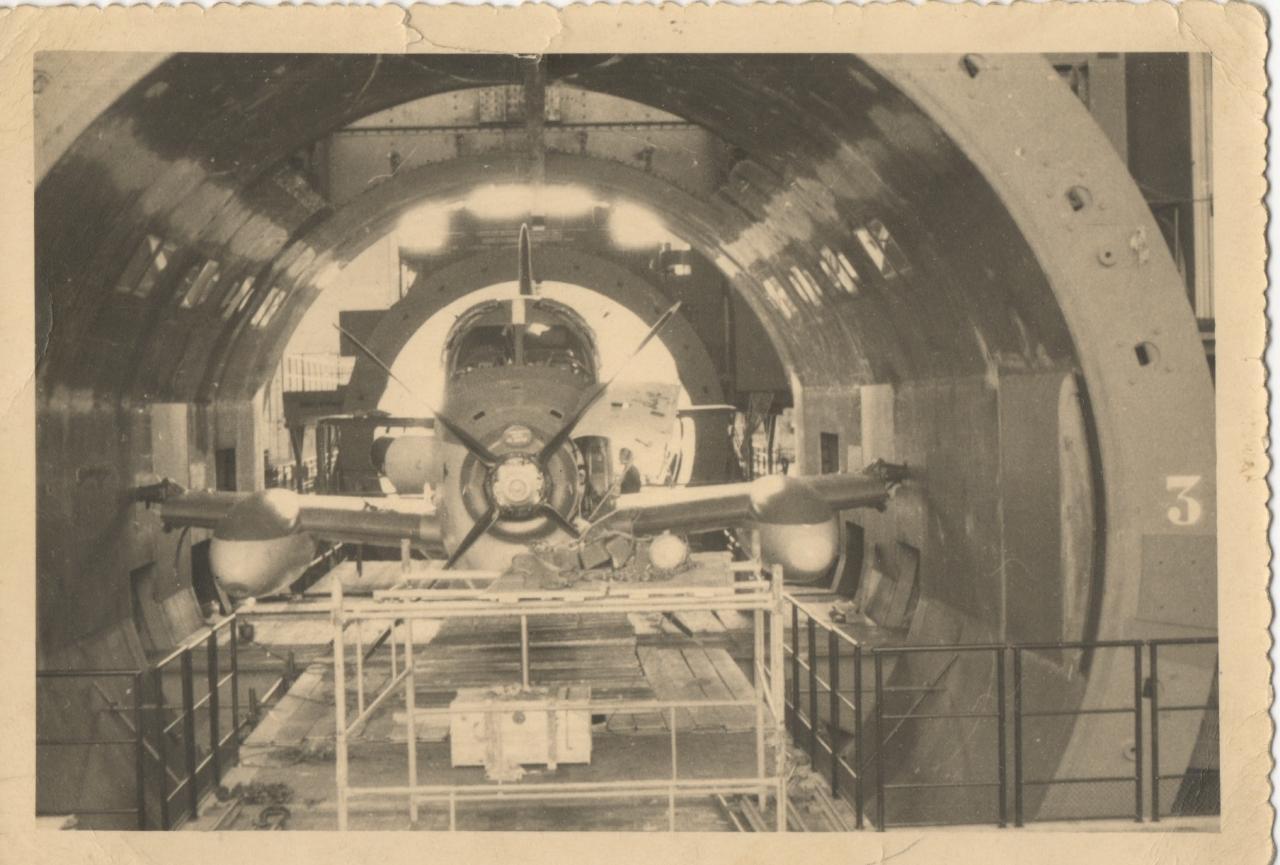 1959/60, alizé dans la soufflerie d'Avrieux à Modane ...