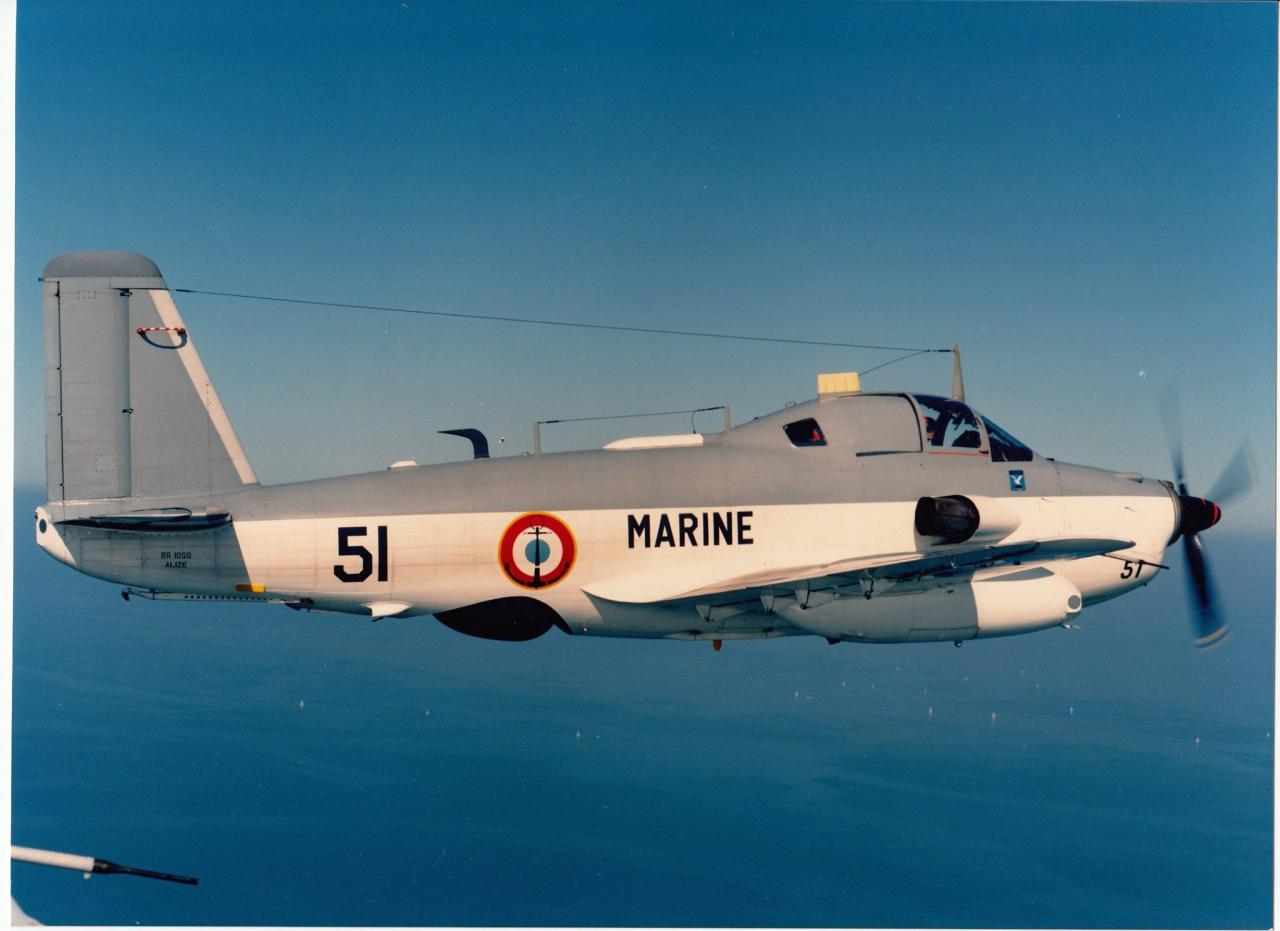 1987, flottille 4F, alizé 51 en vol Océan Indien ...