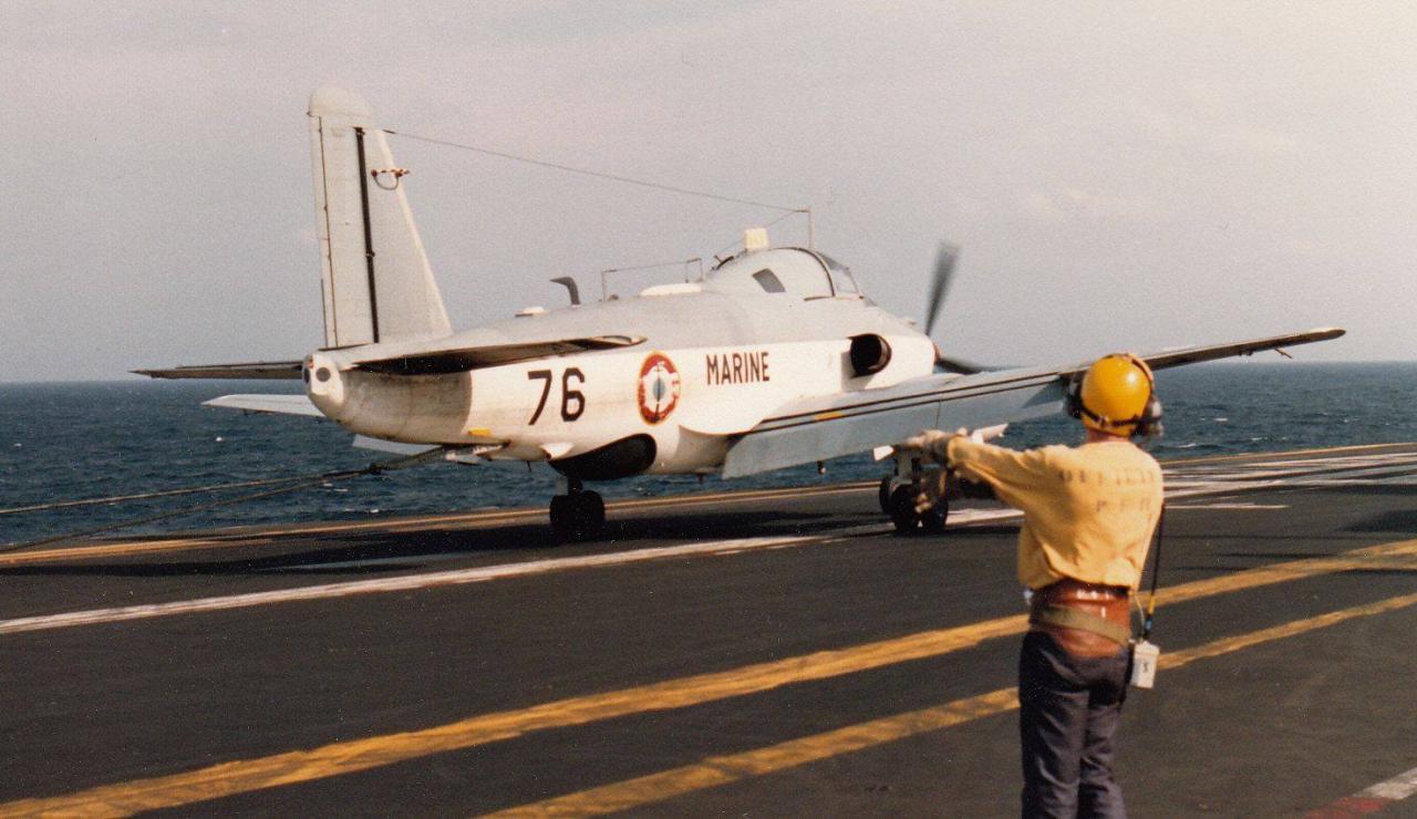 1987, océan indien, p.a Clemenceau, 4F, alizé 76 en prise de brin