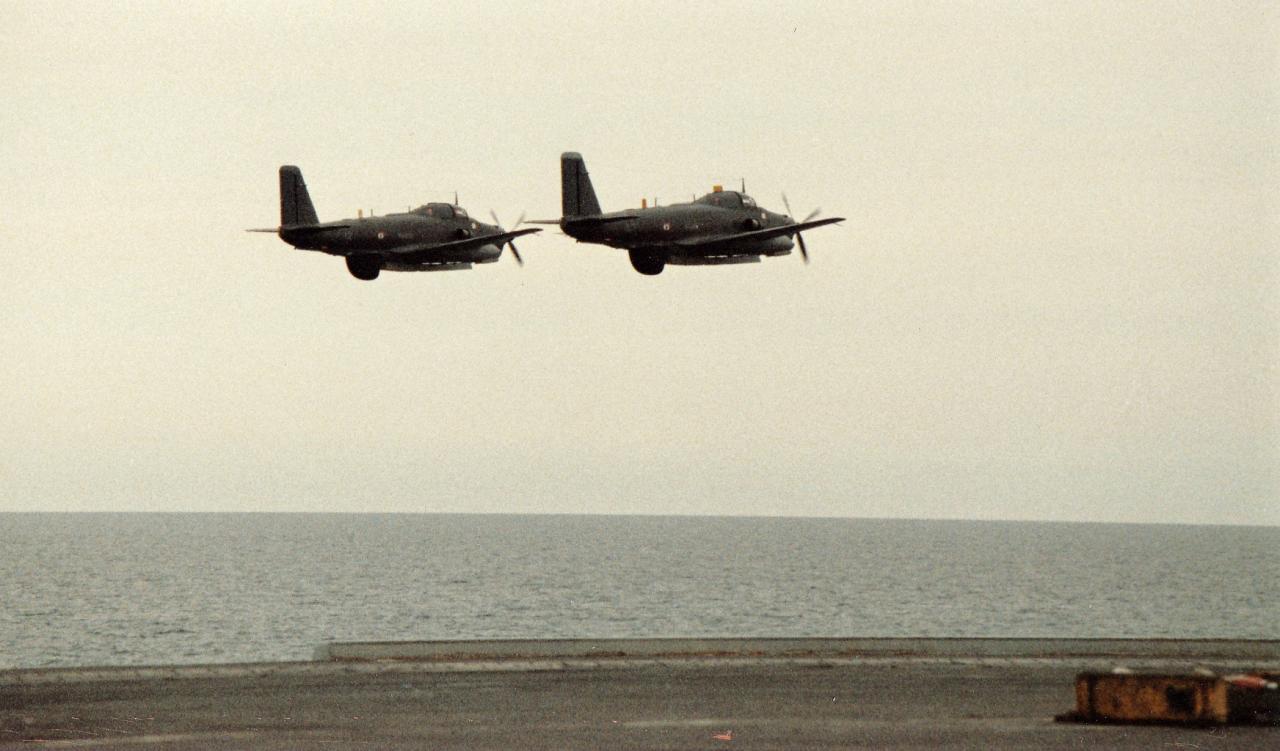 1988, alizé 12et47, passage formation soutes ouvertes et radôme sortie