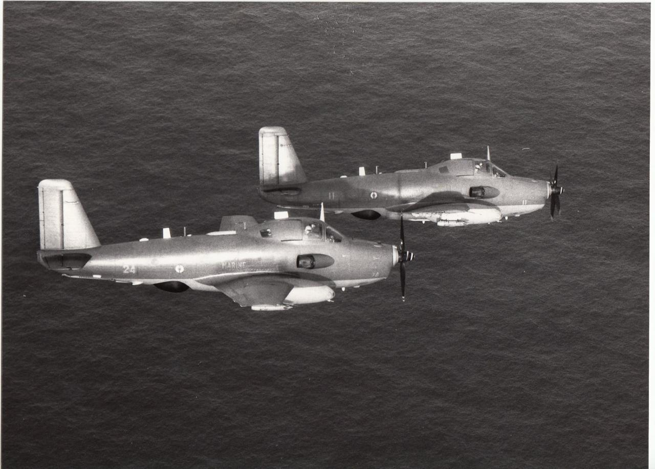 1988, survol maritime en patrouille avec l'alizé 11 et 24 de la 6F ...