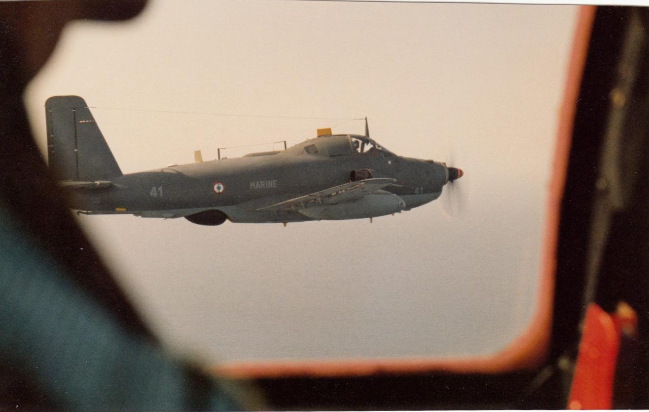 1988, survol maritime en patrouille avec l'alizé 41 de la 6F