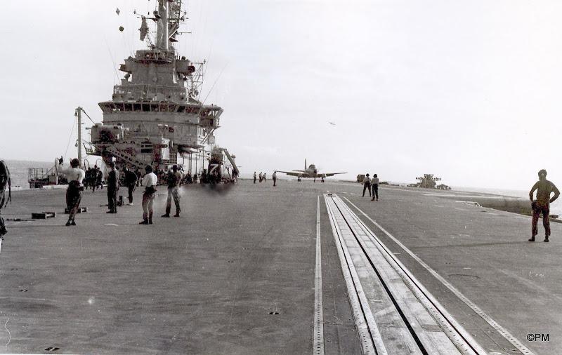 Pacifique 1968, p.a Clemenceau, retour à bord ...