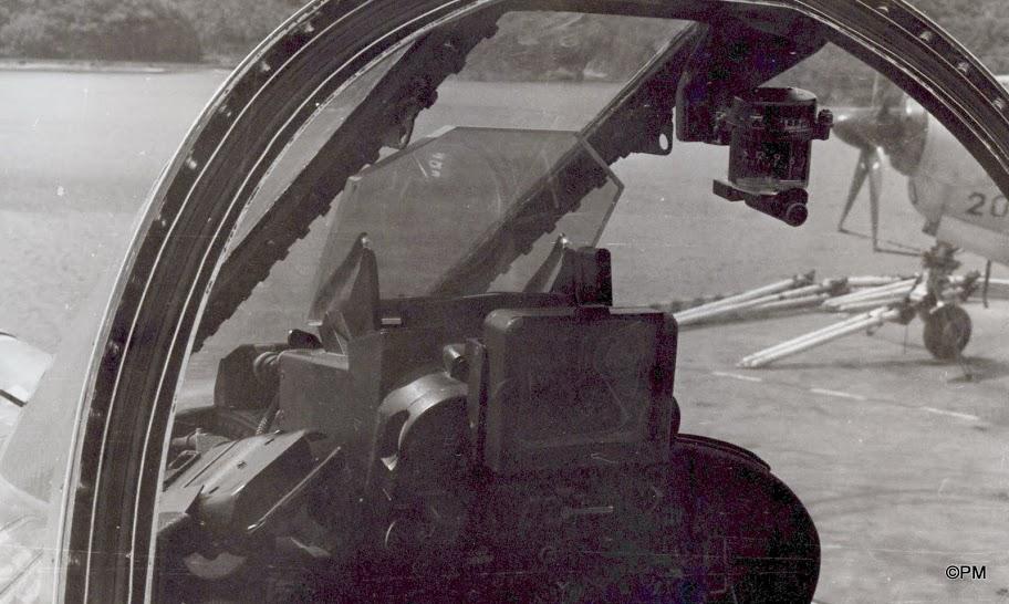 Pacifique 1968, p.a Clem, alizé 20, cockpit étendard ...