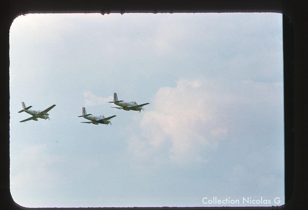 Le Bourget 1957, les trois pré-série en formation ...