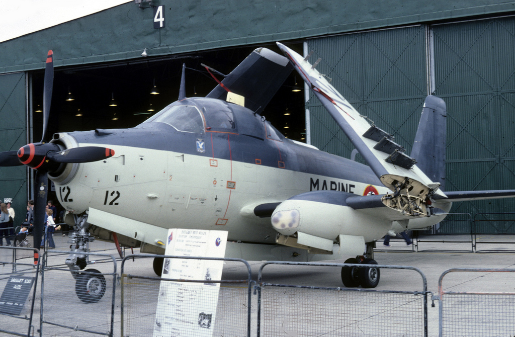 Royal Naval Air Station Yeovilton (UK), 1981, flottille 4F, alizé 12