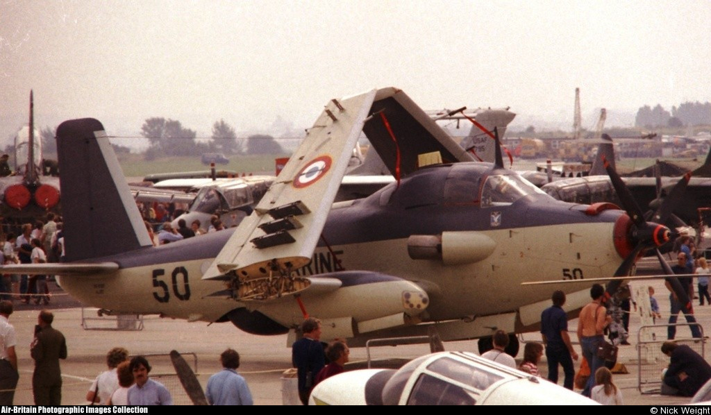 Royal Naval Air Station Yeovilton (UK), 1982, flottille 4F, alizé 50